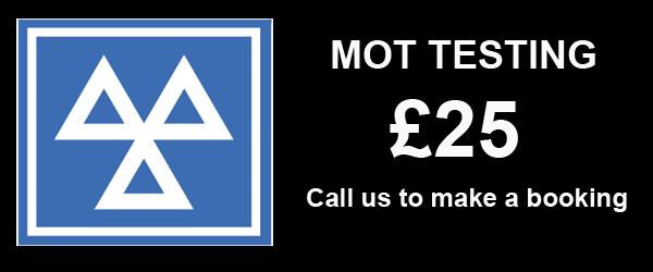 MOT for motorcycle £25